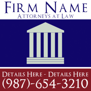 Customize Your Own Professional Services Banner - Law Firm Template - Custom Graphix