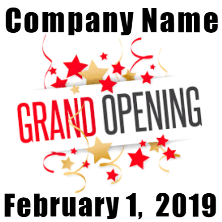 Customize Your Own Grand Opening Banner - Confetti Template - Custom Graphix