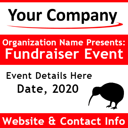Customize Your Own Non-Profit Banner - Event Template 2 - Custom Graphix