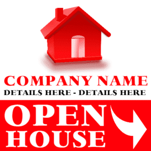 Customize Your Own Real Estate Banners - Open House Template - Custom Graphix