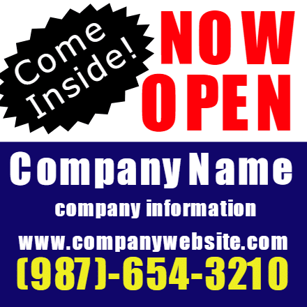 Customize Your Own Grand Opening Banners - Now Open Template - Custom Graphix