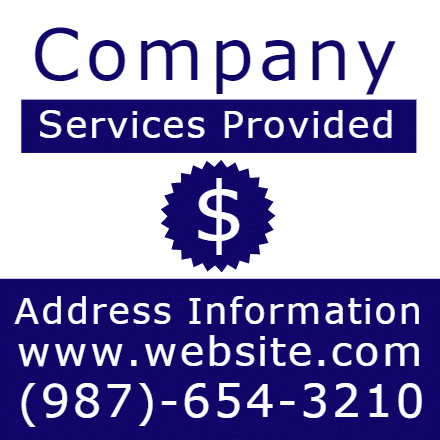 Customize Your Own Professional Services Banner - Blue Template - Custom Graphix