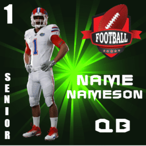 Customize Your Own School Banners - Football Player Template - Custom Graphix