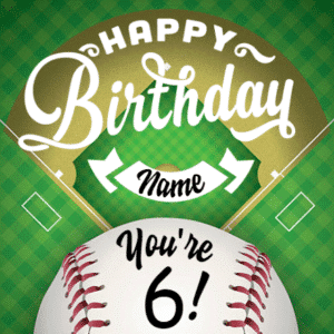 Customize Your Own Birthday Banners - Baseball Template - Custom Graphix