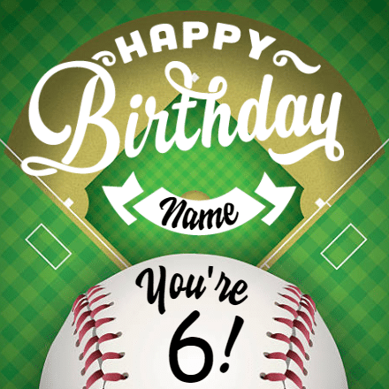 Customize Your Own Birthday Banners - Baseball Template - Custom Graphix