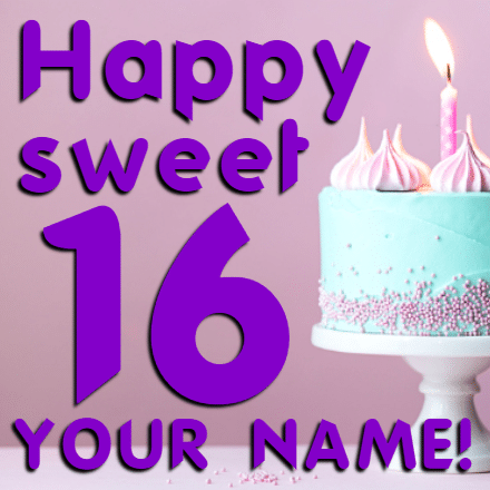 Customize Your Own Birthday Banners - Sweet 16 Template - Custom Graphix