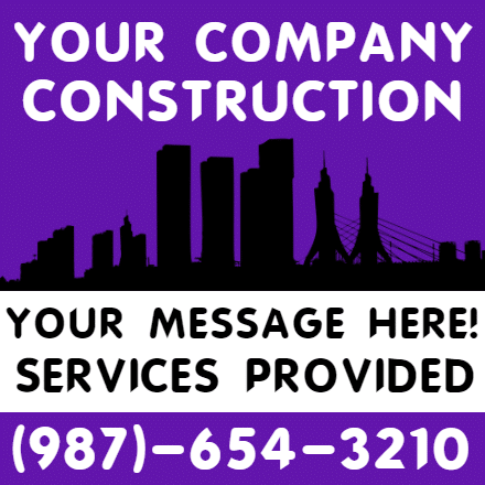 Customize Your Own Contractors Banner - Construction Template - Custom Graphix