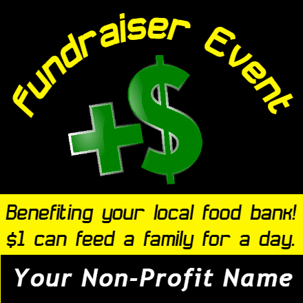 Customize Your Own Non-Profit Banner - Fundraising Template - Custom Graphix