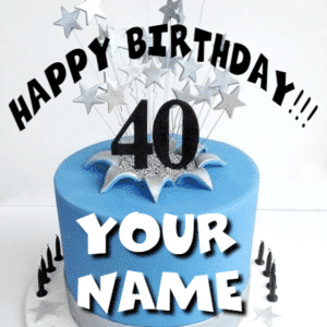 Customize Your Own Birthday Banners - Blue Cake Template - Custom Graphix