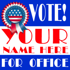 Customize Your Own Political Banner - Ribbon Template - Custom Graphix