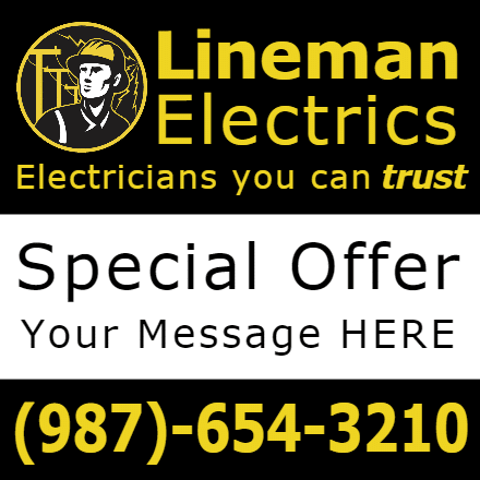 Customize Your Own Contractors Banners - Lineman Template - Custom Graphix