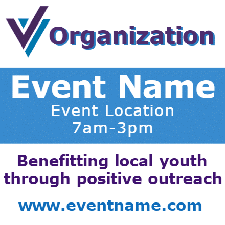 Customize Your Own Non-Profit Banners - Event Template - Custom Graphix