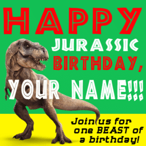 Customize Your Own Birthday Banners - Jurassic Template - Custom Graphix