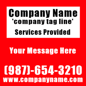 Customize Your Own Professional Services Banner - Red Template - Custom Graphix