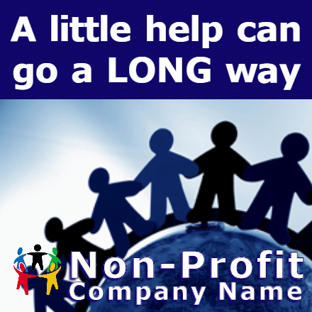 Customize Your Own Non-Profit Banners - Hands Template - Custom Graphix