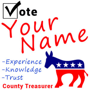 Customize Your Own Political Banner - Treasurer Template - Custom Graphix