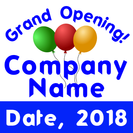 Customize Your Own Grand Opening Banner - Company Template - Custom Graphix