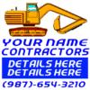 Customize Your Own Contractors Banner - Backhoe Template - Custom Graphix