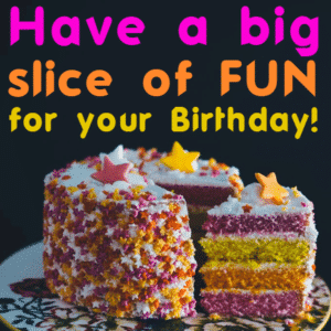 Customize Your Own Birthday Banners - Cake Slice Templates - Custom Graphix