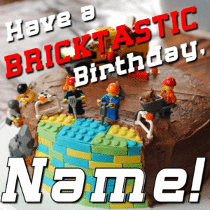 Customize Your Own Birthday Banners - Lego Bricks Template - Custom Graphix