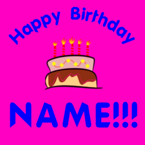 Customize Your Own Birthday Banners - Pink Cake Template - Custom Graphix