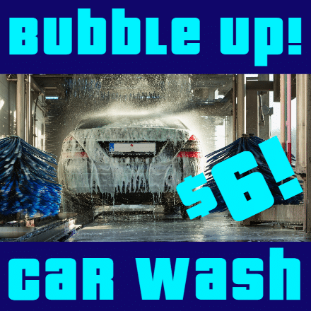 Customize Your Own Car Wash Banners - Bubble Up Template - Custom Graphix