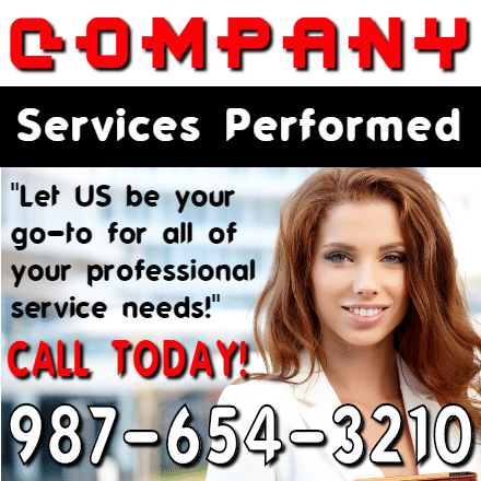 Customize Your Own Professional Services Banner - Free Template - Custom Graphix