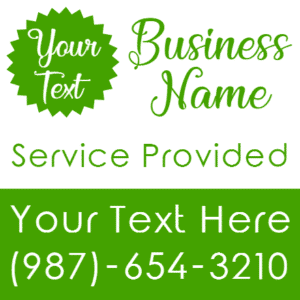 Customize Your Own Advertising Banners - Green Business Template - Custom Graphix