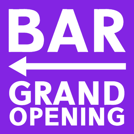Customize Your Own Grand Opening Banners - Violet Template - Custom Graphix