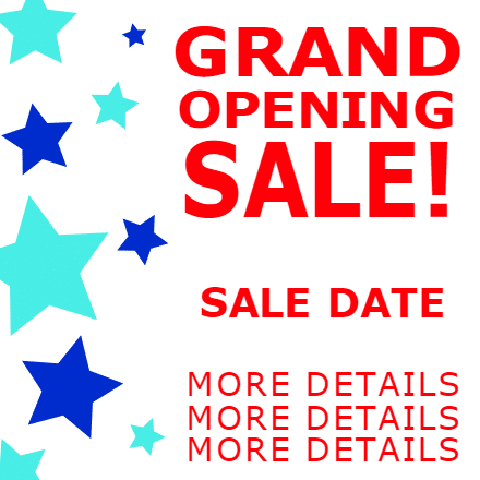 Customize Your Own Grand Opening Banners - Sale Date Template - Custom Graphix