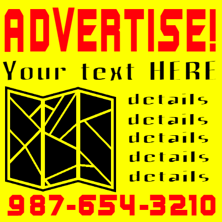 Customize Your Own Advertising Banners - Yellow Template - Custom Graphix