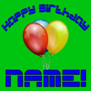 Customize Your Own Birthday Banners - 3 Balloons Template - Custom Graphix