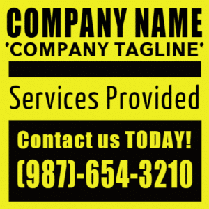 Customize Your Own Contractors Banners - Tagline Template - Custom Graphix