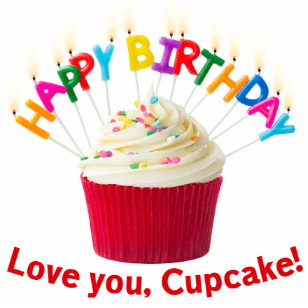 Customize Your Own Birthday Banners - Red Cupcake Template - Custom Graphix