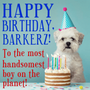 Customize Your Own Birthday Banners - Dogs Template - Custom Graphix