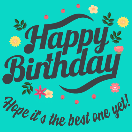 Customize Your Own Birthday Banners - Flowers Template - Custom Graphix