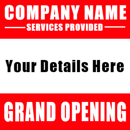 Customize Your Own Grand Opening Banners - Red Template - Custom Graphix