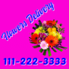 Customize Your Own Magnetic Signs - Pink Flower Template - Custom Graphix