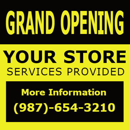 Customize Your Own Grand Opening Banners - Services Template - Custom Graphix