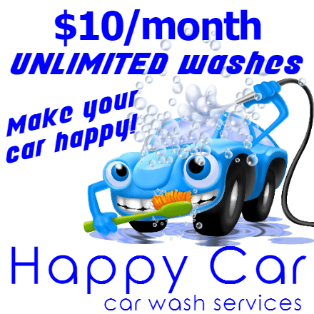 Customize Your Own Car Wash Banners - Blue Car Template - Custom Graphix