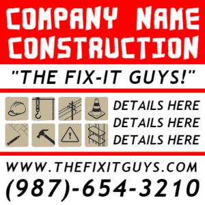 Customize Your Own Contractors Banner - Fix It Template - Custom Graphix
