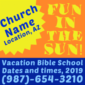 Customize Your Own Religious Banners - Church Name Template - Custom Graphix