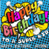 Customize Your Own Birthday Banners - Super Kid Template - Custom Graphix