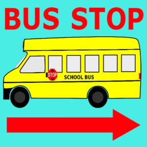 Customize Your Own School Banners - Bus Stop Template - Custom Graphix