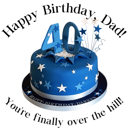 Customize Your Own Birthday Banners - Dad's Template - Custom Graphix