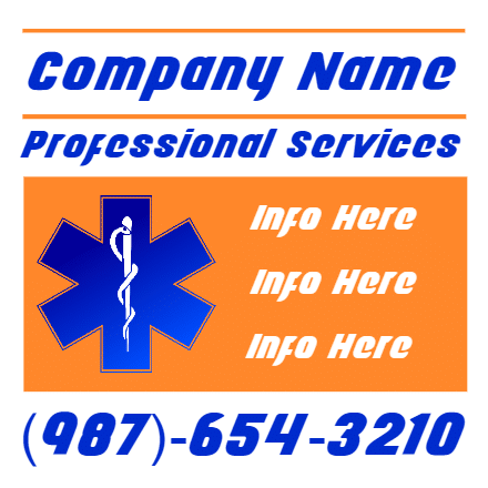 Customize Your Own Professional Services Banner - Health Template - Custom Graphix