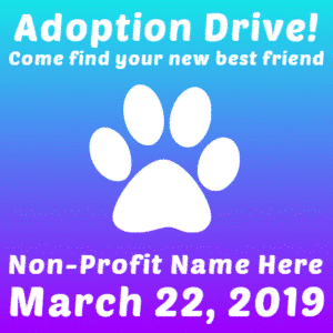 Customize Your Own Non-Profit Banner - Adoption Template - Custom Graphix