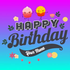 Customize Your Own Birthday Banners - Cupcakes Template - Custom Graphix