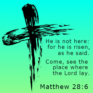 Customize Your Own Religious Banners - Matthew 28:6 Template - Custom Graphix