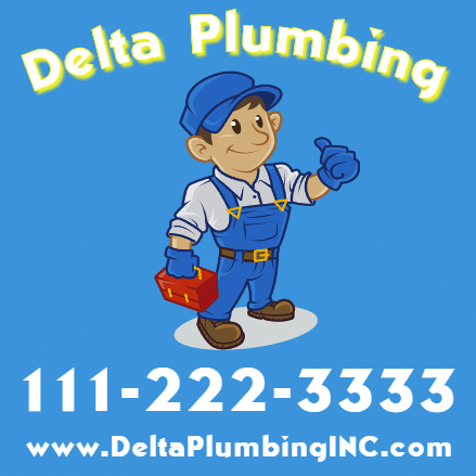 Customize Your Own Magnetic Signs - Plumbing Service Template - Custom Graphix